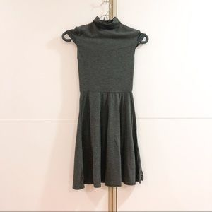 Grey mock neck skater dress